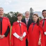 FLTR: Wian Erlank, Reghard Brits, Prof AJ van der Walt, Carolien Koch, Bradley Slade